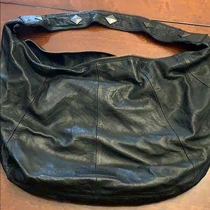 BCBG Maxazria 100% Lamb skin black handbag